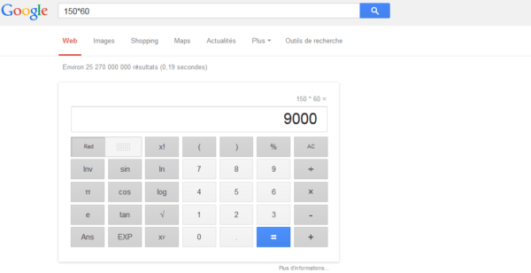 Calculatrice Google