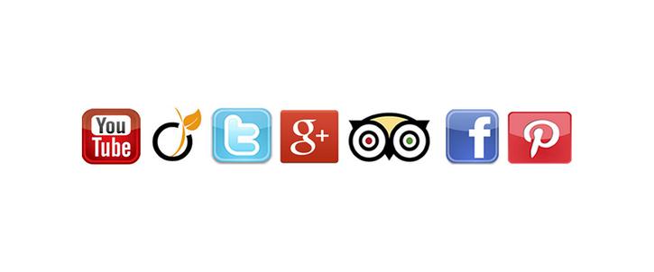 Icones des principaux réseaux sociaux