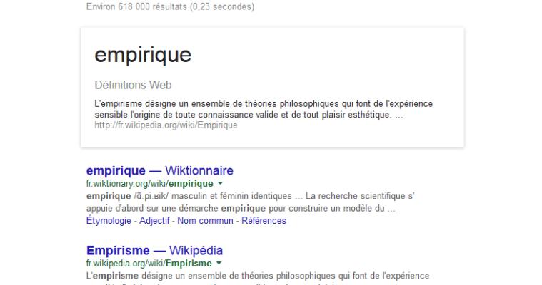 Définition Google
