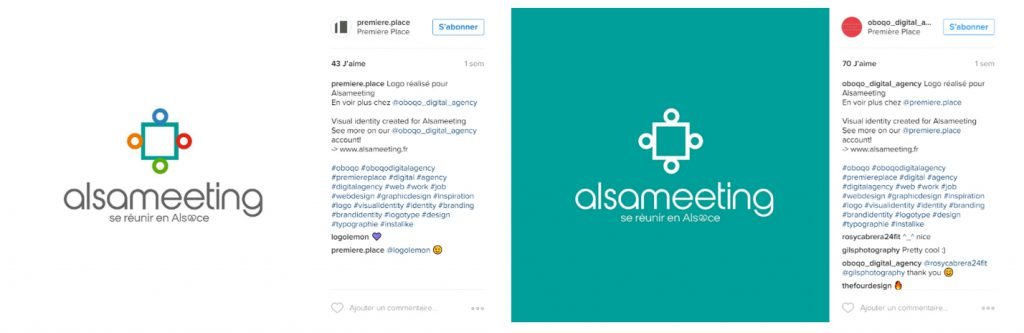Post Instagram du logo Alsameeting