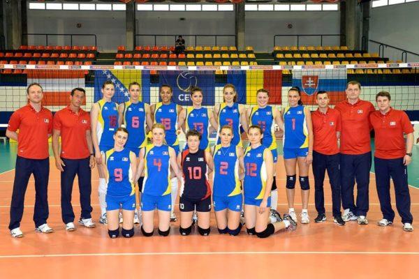 Alina Albu Ilie avec l'équipe nationale de volley en Roumanie