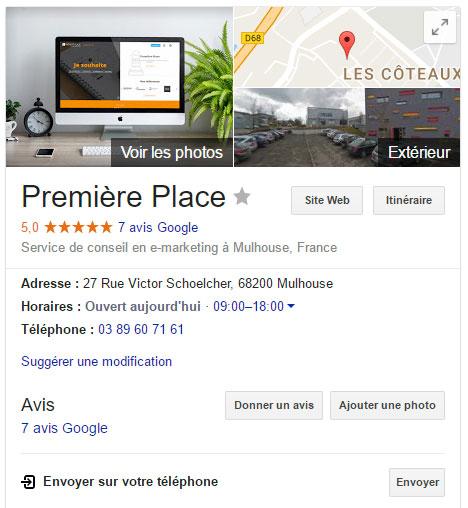 Google My Business Première Place
