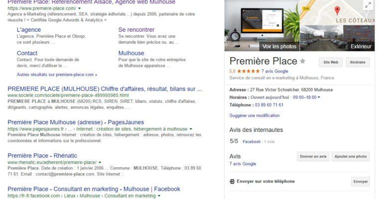 Première Place Google My Business