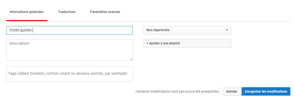 optimisation video youtube