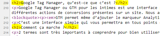 balises hn html