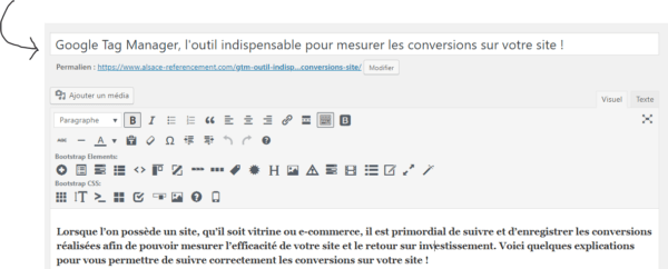 titre h1 wordpress