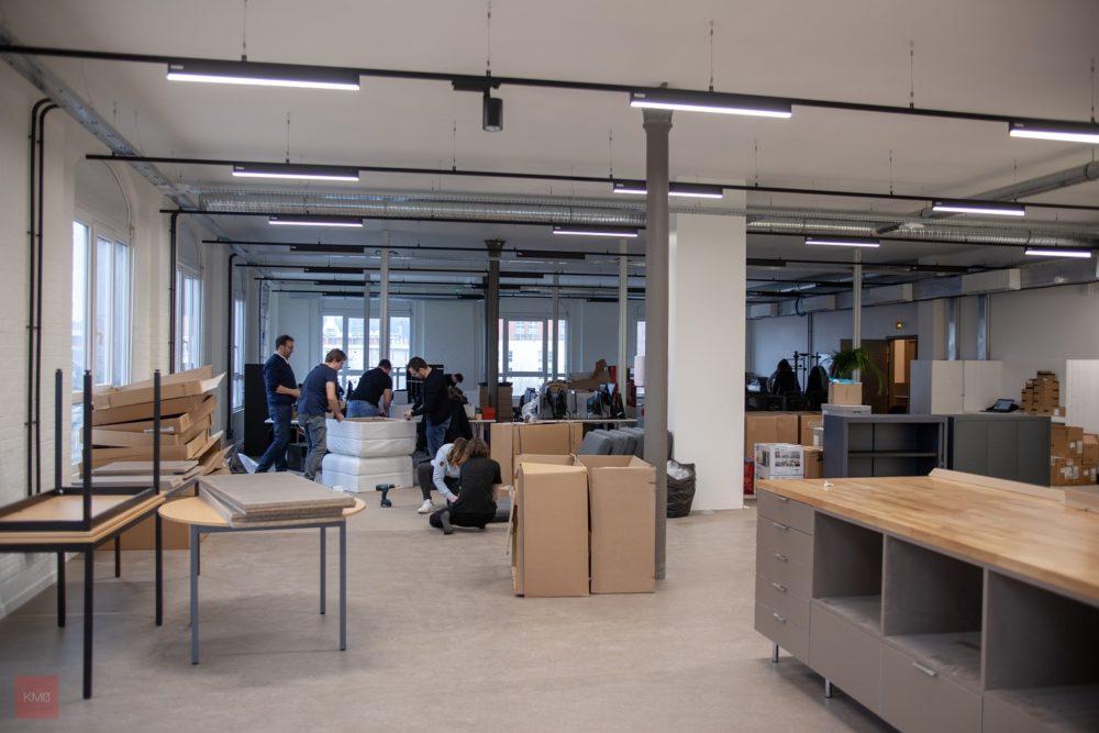 montage bureaux et aménagement de l'open space