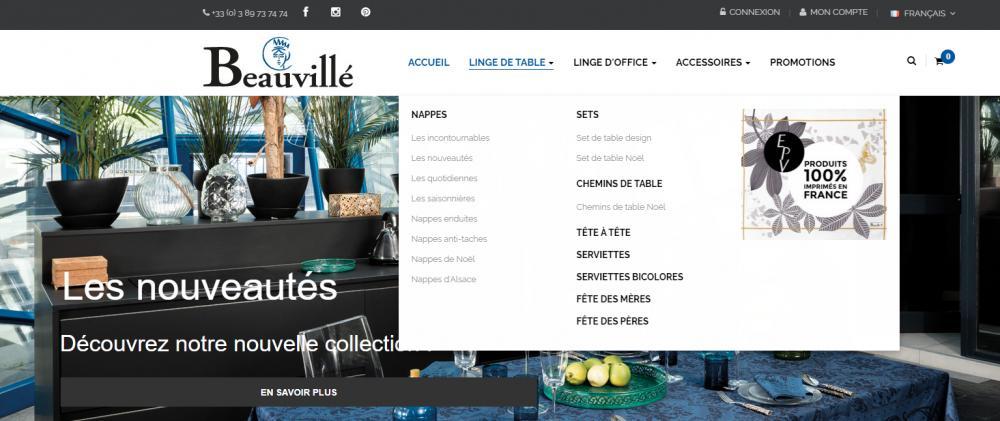 catégories opération commerciale site web